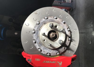 Brake disc and calliper
