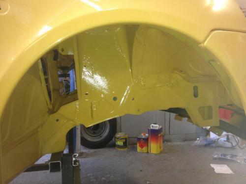 yellow Renault Clio